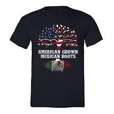 American Grown Mexican Roots T-shirt USA Spanish Hispanic Humor Chicano Tshirt