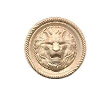 Lion Head Hardwood Round Wall Plaque / Applique / Rosette
