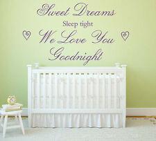 Sweet Dreams Vinyl Wall Art Sticker Mural, Decal, Kids Bedroom Nursery