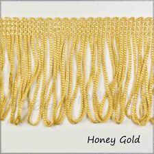 Honey Gold Fringe Dress Loop Trimming 3 inch - 75mm