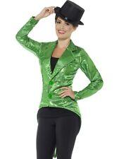 Sequin Tailcoat Jacket, Ladies, Dancer Halloween Fancy Dress Costume Accessory
