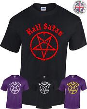 AVE, o Satana T-Shirt-Pentagramma Rock Goth empia satanici Punk Emo Alternativa