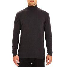 Guide London Roll Neck Knitwear KW2578 Men's Jumper Cotton Charcoal