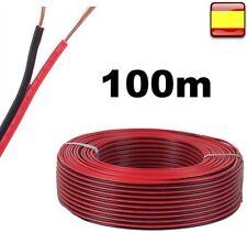 Cable Audio de Sonid oAltavoces Bobina 100 Metros 100m 50m 25m  Rojo y negro