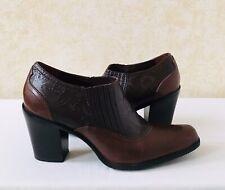 Women Antonio Melani Cowboys Ankle Bootie Leather Brown MSRP $129