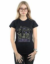 Jimi Hendrix Women's Art Nouveau Purple T-Shirt