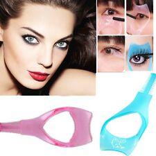 3 en 1 Mascara Aplicador Guía Peine de pestañas, Herramientas de Maquillaje Rizador de pestañas