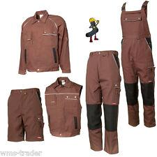 Work Trousers Work Jacket Work Shorts Vest Boiler Suit Canvas 320 Brown