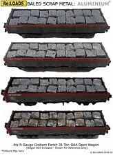 Crushed, Baled Scrap Metal ALUMINIUM Load, for Farish N Gauge OAA Open Wagon
