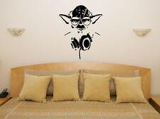 Yoda-star wars jedi master light saber art decal autocollant photo poster