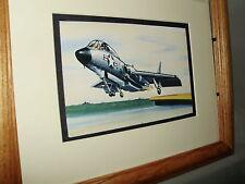 Chance Vought F7 Cutlass Jet Fighter Model Airplane Box Top Art Color by artist