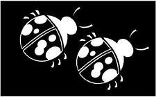 WHITE Vinyl Decal -  Lady Bug  bugs cute fun sticker ladybug truck car window