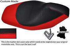Rojo Y Negro Custom encaja Gilera Runner Sp 50 125 St Vx Cuero Funda De Asiento