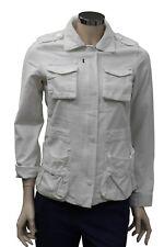 Cappotto corto da donna bianco Billabong giacca tasche manica lunga casual moda