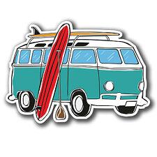 2 X Camper Van pegatina Vw splitty Casco Surf Surfista Auto Ipad Laptop calcomanía # 4074
