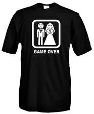 T-Shirt girocollo manica corta Fun G09 Happy Wedding! Game Over Addio celibato