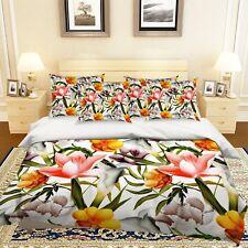 3D Tropical Flower 58 Bed Pillowcases Quilt Duvet Cover Set Single Queen King AU