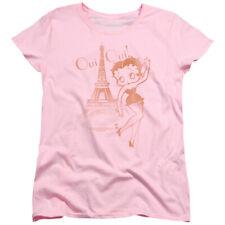 Betty Boop Oui Oui Womens Short Sleeve Shirt