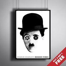Charlie Chaplin Tiempos Modernos 1936 Movie Poster A3 A4 Clásico Película De Culto Art Print
