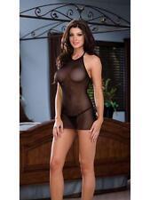 Valentines Black Womens Mesh Lingerie Underwear Basque Babydoll Teddies + Thong