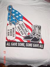 World War 2 Korea Vietnam-Gulf-Afghanistan-Iraq War-American Flag USA Shirt-L