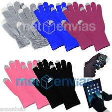 Guantes para PANTALLA TACTIL Movil Smartphone iPad Tablet elastico Colores