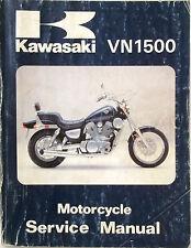 GENUINE KAWASAKI VN1500 SERVICE MANUAL 87-88 and Supplement 94-96