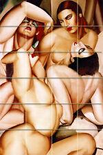 Art Tamara de Lempicka Nude Mural Ceramic Backsplash Bath Tile #1426