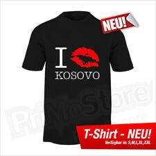 I Kiss Kosovo T-Shirt Albanien Albania Kosovo Kosova Shqiptar Balkan S - 5XL