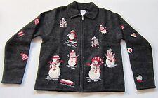 Talbots Kids & Adults Matching Christmas Skiing Snowman Christmas Tree Sweater