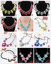 Lady Charm Jewellery Pendant Crystal Choker Chunky Statement Bib Chain Necklace