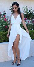 Wrap Romper Maxi Dress Spaghetti Strap S M L Cotton Candy LA CD7907