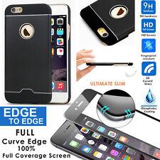 Ultra Thin Hybrid Aluminum Matte Hard Case Cover 3D HD Glass Screen iPhone 6/6s+