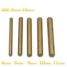 5 Pcs ø6-16 Brass Hexagon Bar for Portable EDM Machine Use, L=100mm
