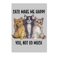 Must-have Cats Make Me Happy Sticker - Portrait Sticker - Portrait