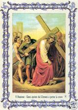 .SANTINO HOLY CARD VIA CRUCIS STAZIONE 5