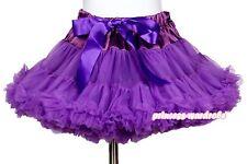 Grape Purple Full Pettiskirt Skirt Petti Party Dance Child Girl Tutu Dress 1-8Y