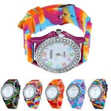 Women Watch Silicone Crystal Bling Analog Digital Quartz Wrist Watch Cheap часы