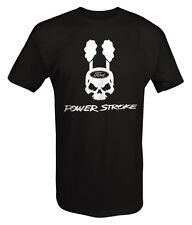 Powerstroke Skull Smokestacks Black Diesel T Shirt