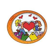 Goebel Heart Kids Romero Britto Künstlerteller Teller Dekoteller Porzellan