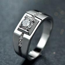 Men's 925 Sterling Silver Lab Diamond Wedding Band Wedding Ring M116