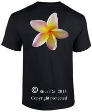 Frangipani Mens T-Shirt Australian Printed 100% cotton flower pink, yellow white