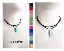 bohemia turquoise Crystal Quartz Healing Hexagonal Stone Pendant choker Necklace
