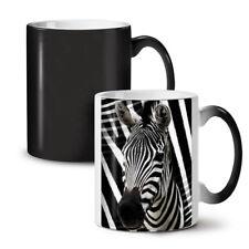 Zebra Face Cute Animal NEW Colour Changing Tea Coffee Mug 11 oz | Wellcoda