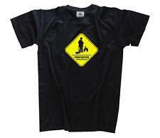 Achtung Crossing Firefighter Feuerwehr II Feuerwehrmann T-Shirt S-XXXL