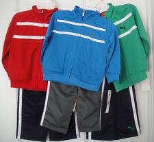 PUMA NWT Infant Boys 2PC Track Suit Jacket Pants Top Zip Warm Up 12 18 24 m