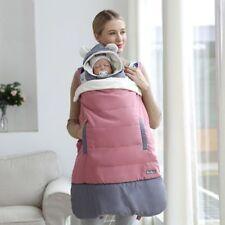 Baby Tragetasche Warm Polyester Baumwolle Winter Känguru Infant Windfest Kapuze