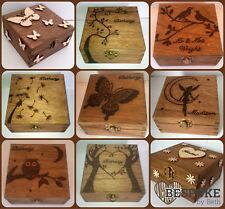 Personalised Wood Keepsake Box Many Size & Designs Christmas Gift Engraved Love