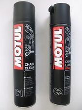 MOTUL CHAIN CLEAN C1 (O-RING) (X-RING) (Z RING) 400ML + MOTUL CHAIN LUBE ROAD C2