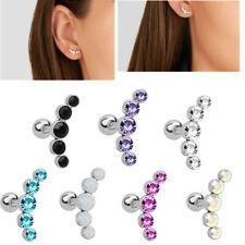 1 Pair Fashion Earrings Crystal Post Stud Ear Climber Ear Piercing Wrap Earrings